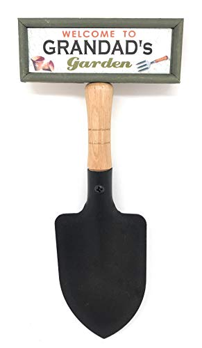 tlm wholesale Welcome to Grandad's garden hanging shovel sign