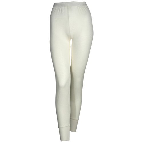 Terramar Women's Thermasilk Pointelle Pant (Natural, X-Large)