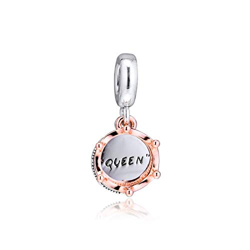 Queen & Regal Crown Charms 925 Original Fit Pandora Bracelet Sterling Silver Charm Beads For Jewelry Making Jewellery