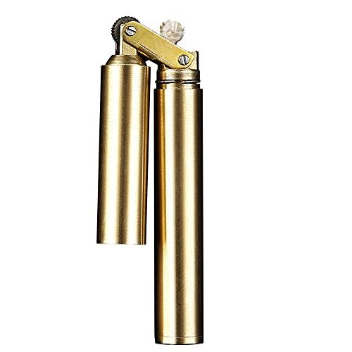 CYzpf Nunchaku - Encendedor de Queroseno Vintage Creativo, Mini Encendedores de Metal Reutilizables a Prueba de Viento para Regalos, Hombres, Papá, Esposo (sin Combustible),Bronze