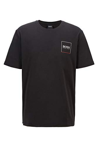 BOSS Urban T-Shirt RN Camiseta de Pijama, Negro1, S para Hombre