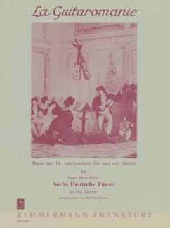 6 DEUTSCHE TAENZE - arrangiert für zwei Gitarren [Noten / Sheetmusic] Komponist: KREBS FRANZ XAVER