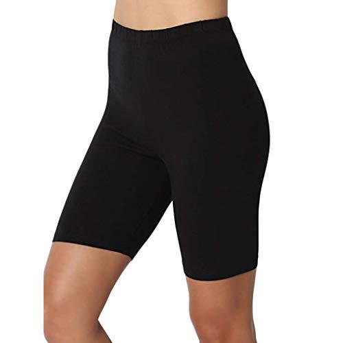 KPPONG Frauen Kurze Leggings Hose Damem Unterhose Elastische Atmungsaktive Yoga Shorts Figurbetont Slip Shapewear