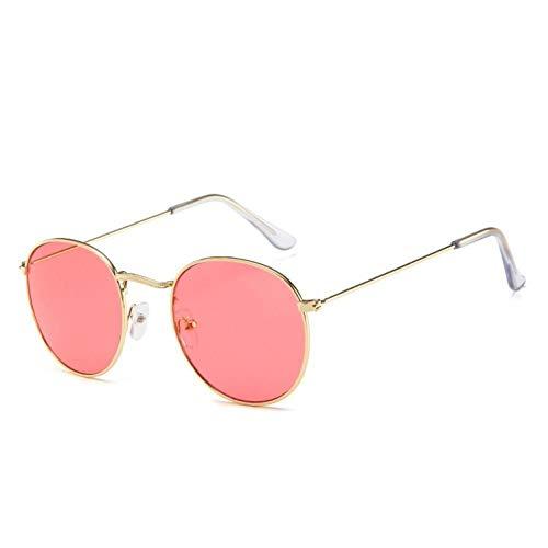 CGQDDP Gafas de Sol Retro con Espejo para Mujer/Hombre, Gafas de Sol Redondas clásicas para Exteriores