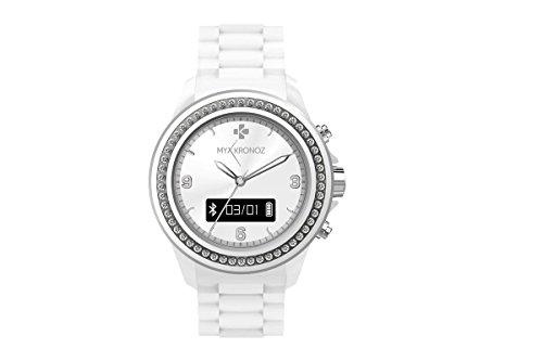 MyKronoz KRZECLOCK-White-Swarovski Smartuhr (Schrittzähler, Bluetooth) weiß