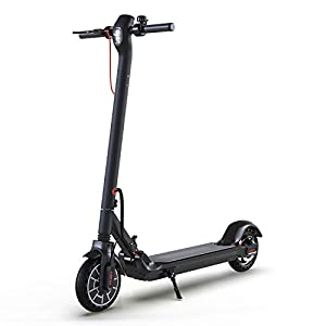 Hiboy MAX Electric Scooter – 350W Motor 8.5″ Solid Tires Up to 17 Miles & 18.6 MPH One-Step Fold, Adult Electric Scooter for Commute and Travel