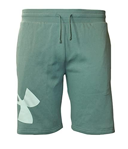 Under Armour Men's UA Rival Fleece Logo Shorts (Lichen Blue, X-Large)