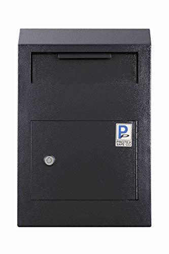 Protex Caja de seguridad plegable (WDS-150), color negro