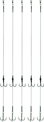 Storfisk fishing & more Stahlvorfach 7x7 Soft 2 Drillingen zweiter Drilling ist Höhenverstellbar 5 St, Größe:4