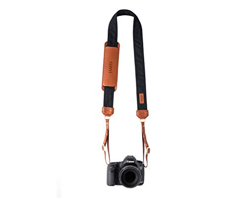 Personalized Black Fotostrap | Black Canvas & Genuine Leather Camera Shoulder Neck Strap | for Nikon, Canon, Sony, Pentax, Leica, DSLR, Mirrorless | Best Photographer Gifts | Personalized Gift