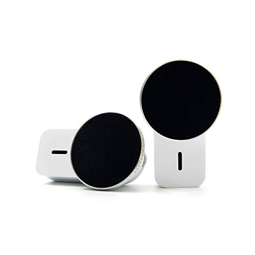 Ampulla MiniS Portable Bluetooth Speakers - 360° Sound TWS Speakers with Built-in Magnets Can be Attached to Any Surface, Built-in Mic. Music Anywhere, Anytime.