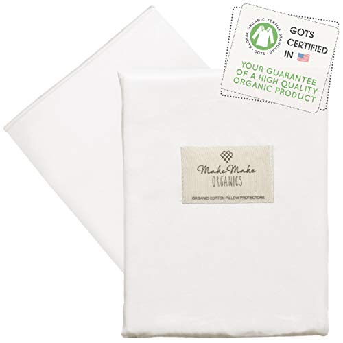 MakeMake Organics Organic Body Pillow Protector (Pack of 1) GOTS Certified Organic Cotton Body Pillow Case Zippered Breathable Hypoallergenic Non Toxic Allergen Barrier (20x54, Pearl White)
