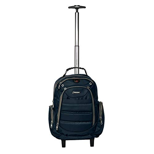 Choice London Wheeled Bag Cabin Suitcase Backpack Laptop Trolley (Blue)