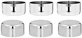 Vinod Stainless Steel Vati/Katori, Set of 6 pcs, Capacity 200 ml