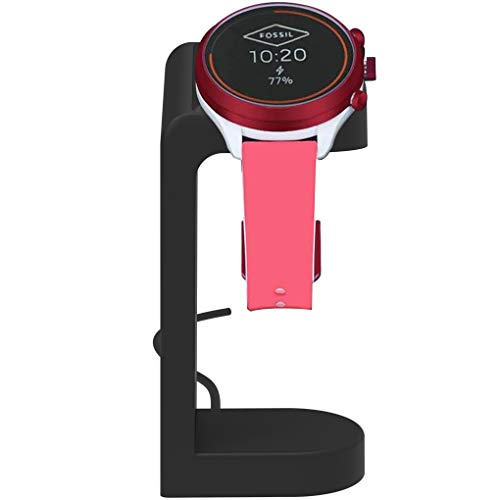 YOLIKE Charger Stand Compatible with Fossil Gen 5,Gen 4 Sport Explorist HR,Michael Kors Runway,Access MKGO,Diesel Axial 2.5,Emporio Gen 5,Skagen Falster 3,Kate Spade Scallop 2