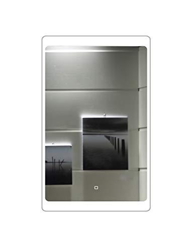 LED-Beleuchtung Touch Schalter Badspiegel GS044 Lichtspiegel Wandspiegel (40 x 60 cm)