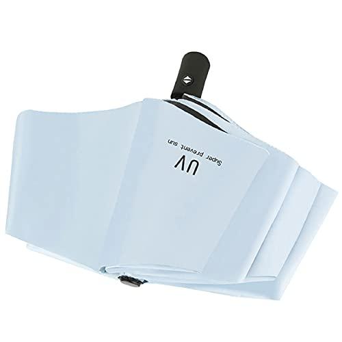 Paraguas Plegable Protección UV Paraguas a Prueba de Viento Apertura Cierre automático Paraguas de Viaje y Negocios Paraguas de Lluvia Pesada para Hombres y Mujeres, Mango ergonómico (Blanco)