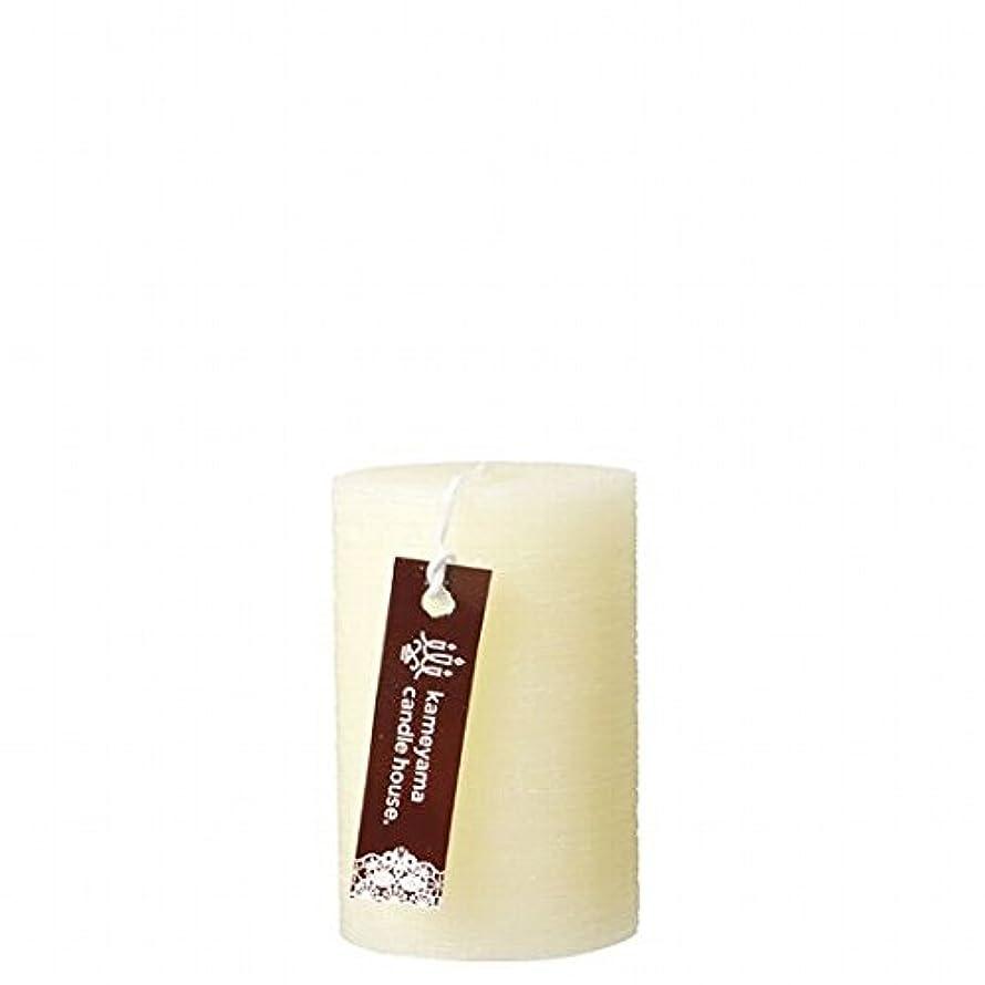 文庫本最大の電気技師カメヤマキャンドル(kameyama candle) ブラッシュピラー2×3 「 アイボリー 」