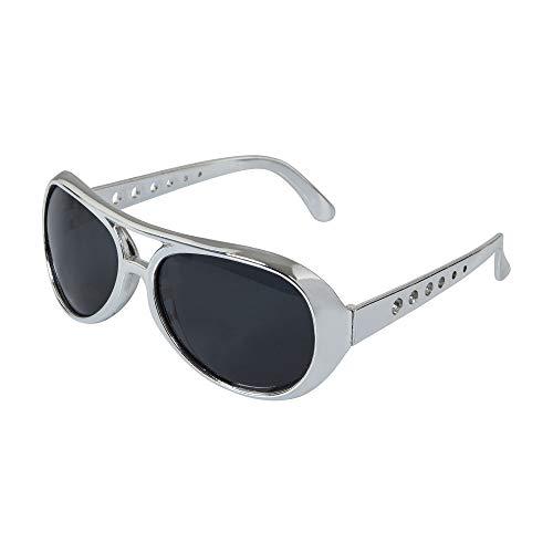 Bristol Novelty BA244 Rock Star Sonnenbrille, Silber, Einheitsgröße