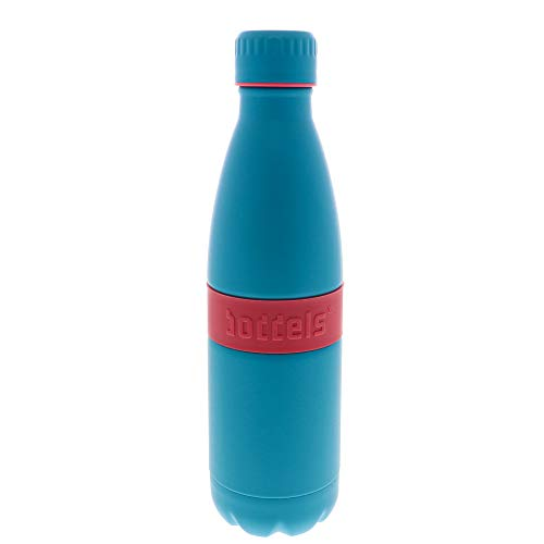 boddels Trinkflasche TWEE+ 500ml - Deine Isolierflasche für jeden Anlass (Himbeerrot/Türkis)