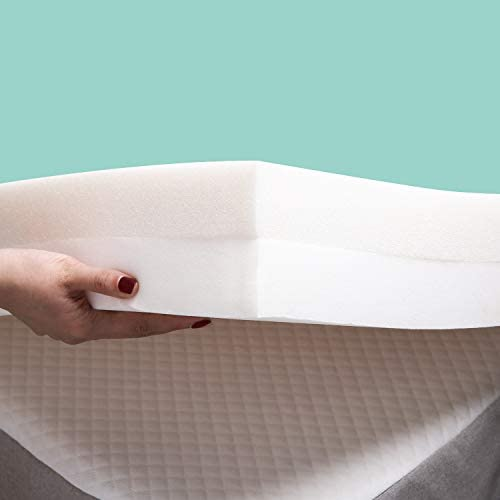 RECCI 4 Inch Premium Foam Mattress Topper Twin XL 2 Layer Pressure Relieving Bed Topper Memory product image