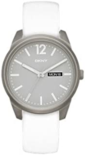 DKNY Women's 'Bryant Park' Quartz Titanium and White Leather Casual Watch (Model: NY2445)