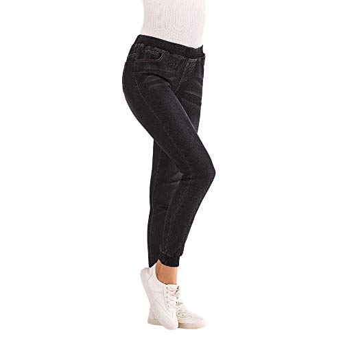 Vectry Jeans Damen Slim Fit Lose Fit Jeans Jogger Push Up Ankle Straight Leg Mit LöChern Stretch Denim Relaxed Hose Hosen, Elastisch Bleistifthosen Jeanshosen