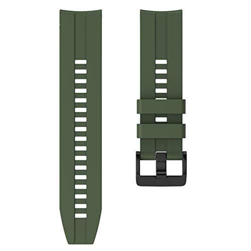 PZZZHF 22 mm Sport Silicone Wamkband para Huawei para Honor Magic Watch GT Banda de Pulsera de Correa Activa para Samsung Galaxy Watch 46mm Gear Gear S3 (Band Color : Army Green, Band Width : 22mm)