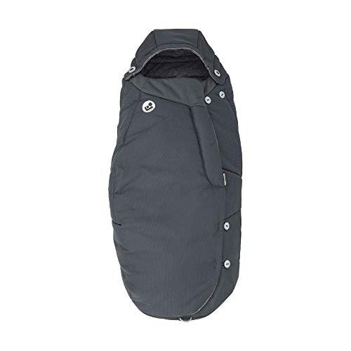 Maxi-Cosi Saco cochecito bebé, saco carrito universal, puede utilizarse come cubrepiés para niños, color essential graphite