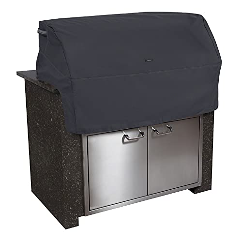 Classic Accessories Ravenna Water-Resistant 37 Inch Built-In BBQ Grill Top Cover, Black
