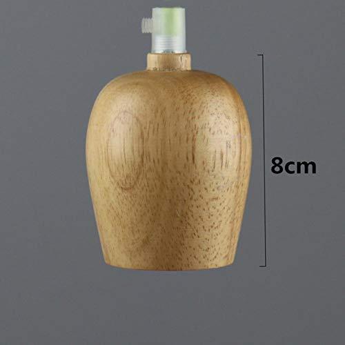5151BuyWorld Lamp Mordern Lampes Suspendues Bois De Chêne Vintage Lampe 120Cm Couleur De Fil E27 Socket Bois Lampe Holder Pendentif Fixture Lampe Qualité Supérieure {Le Style C & Fil Orange}