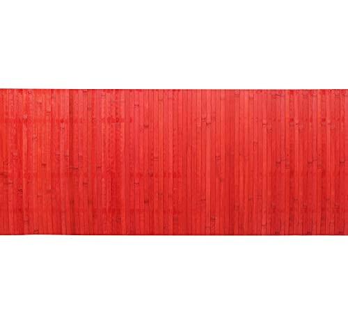 IlGruppone Passatoia per Cucina o Tappeto da Ingresso in Vero Bamboo Naturale a metraggio - Bordeaux