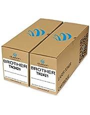 2X TN2421, TN-2421 czarny Duston toner kompatybilny z Brother DCPL2512 L2532 L2552 HLL2312 L2352 L2372 MFCL2712 L2732 -