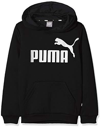 PUMA Jungen ESS Logo Hoody FL B Sweatshirt, Cotton Black, 164