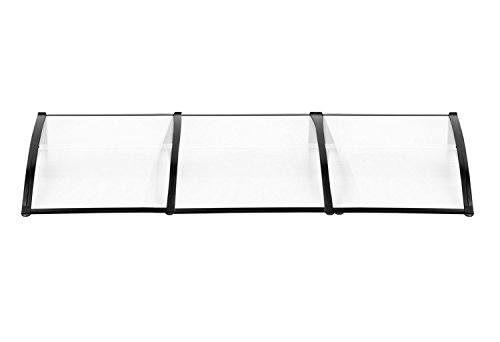 MCombo 116 inch / 78 inch / 39 inch Window Awning Outdoor Polycarbonate Hollow Sheet Door Patio Canopy (40
