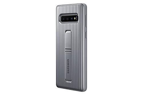 Samsung Galaxy S10 Rugged Protective Case with Kickstand, Silver