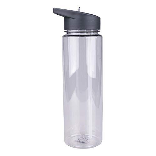 Botella de agua deportiva portátil de 700 ml con pajita suave y asa a prueba de fugas Botella entrenamiento para ejercicios de boca ancha para acampar al aire libre Senderismo Correr Ciclismo atlético