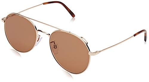 BALLY Herren BY0008-D Sonnenbrille, Pink (Shiny Rose Gold/Brown), 56