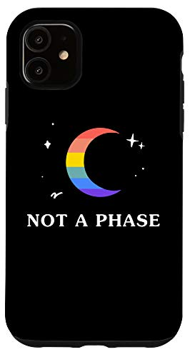 iPhone 11 Not A Phase Gay Lesbian LGBTQ Pride Flag Moon Case