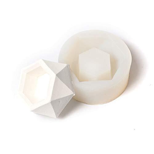 Hexagon DIY Silicone Flower Pot Mold Diamond Shaped Molds for Candle Holder Making Succulent Plants Planter Vase Pot Cement Mould Concrete Moulds,Ashtray Resin Moulds(White)