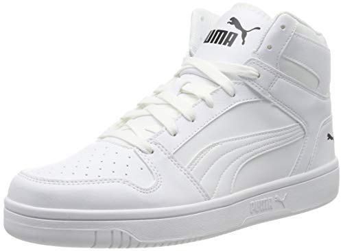 PUMA Unisex Rebound LayUp SL Sneaker, White Black 03, 42 EU