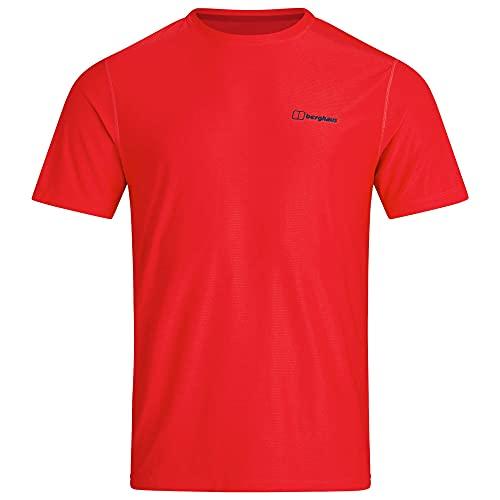 Berghaus 24/7 Short Sleeve Crew Tech Baselayer Camiseta, Goji Berry, XL para Hombre