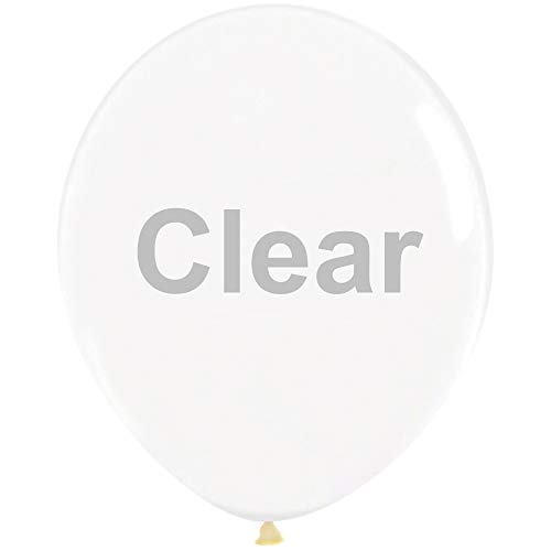 Neo LOONS 5' Pastel Clear Premium Latex Balloons - Great for Kids, Adult Birthdays, Weddings, Receptions, Baby Showers, Water Fights, or Any Celebration, Pack of 100
