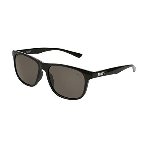 PUMA Jungen Junior Sonnenbrille, Black/Grey, 52