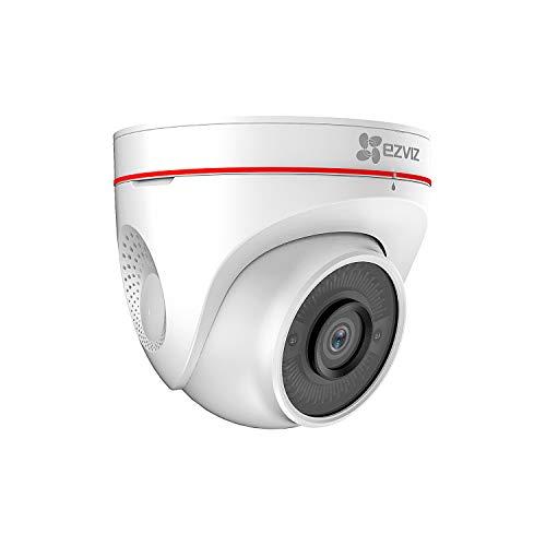 Oferta de EZVIZ 1080p Wi-Fi Cámara de Vigilancia Exterior, FHD IP Cámara de Seguridad con Visión Nocturna, Audio Bidireccional, Luz Estroboscópica Sirena, Detección de Movimiento, IP67, Compatible con Alexa,C4W