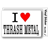 ILBT-145 アイラブステッカー I love THRASH METAL (メタル) ステッカー