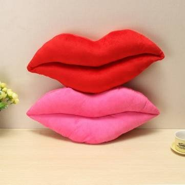 Sexy Lip Plush Bolster Stuffed Toy Cover Sofa Decoration (Pink) by Completestore - http://coolthings.us
