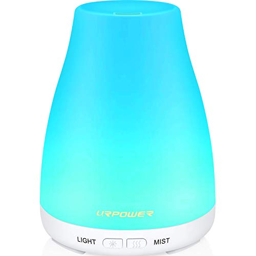 URPOWER New Version: The URPOWER Ultrasonic Aroma Essential Oil Diffuser is an upgraded version. The 2nd generation produces more mist than old version. An ideal way to add moist, comfortable air to small bedrooms, hotel rooms, tabletops and even wor...