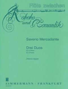3 DUOS - arrangiert für zwei Querflöten [Noten / Sheetmusic] Komponist: MERCADANTE SAVERIO