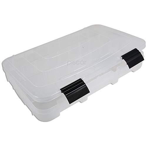 Lineaeffe Boîte Accessoires 1 36.4 x 24.8 x 5 cm Boîte de Pêche Rangement Accessoire Leurre Hameçon Compartiment Plastique